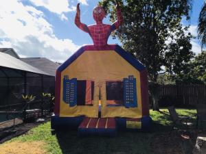 Spider-Man bounce house (13x13)